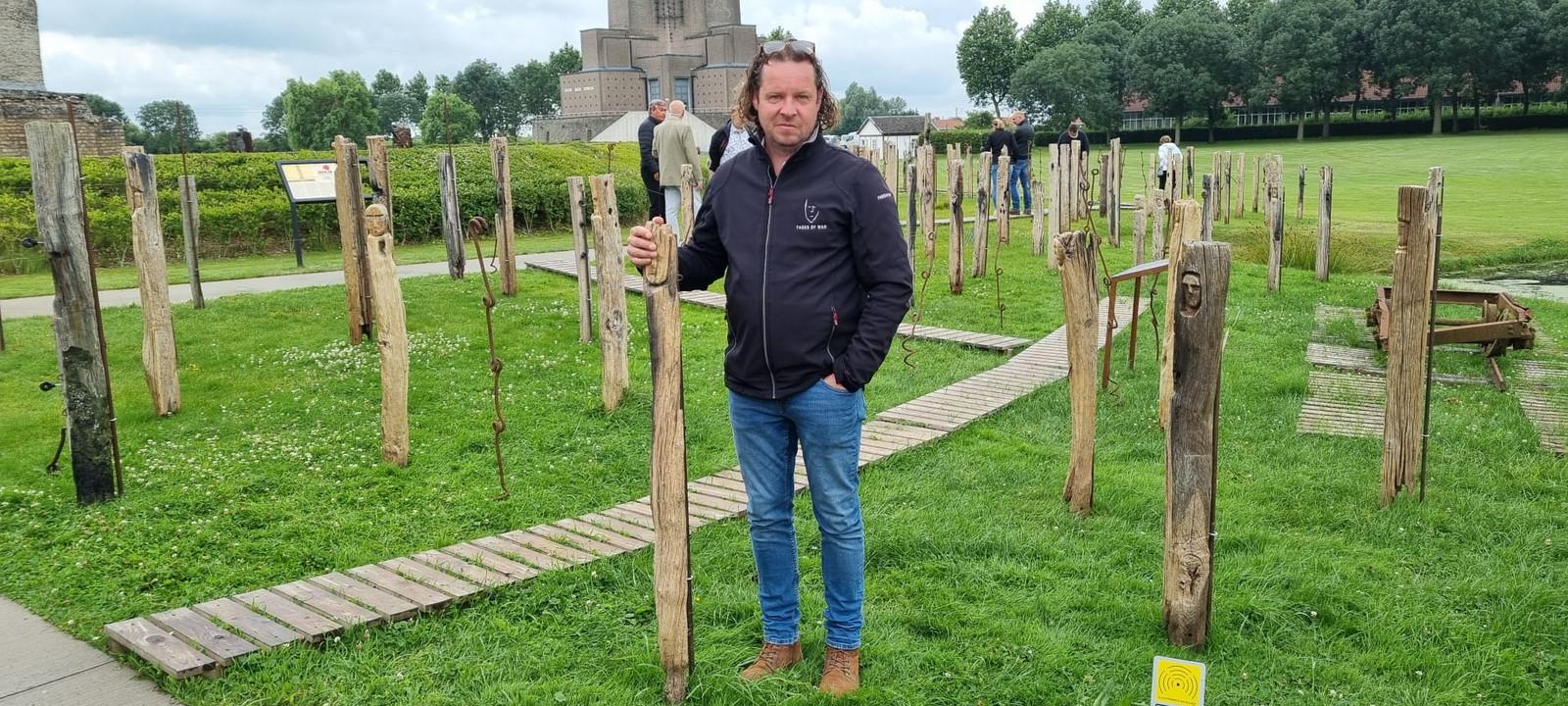 Jan Fieuw is terecht trots dat hij zijn werk mag tentoonstellen in Diksmuide.