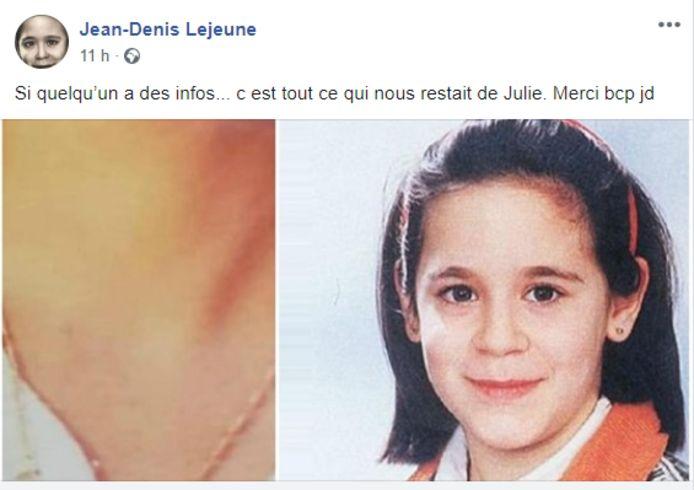La publication Facebook de Jean-Denis Lejeune