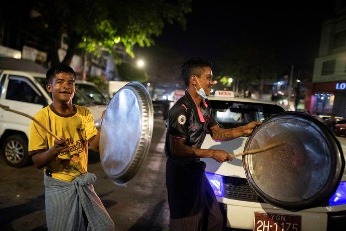 Lawaaiprotest in Yangon