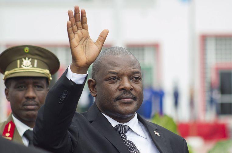 De Burundese president Pierre Nkurunziza. Beeld REUTERS