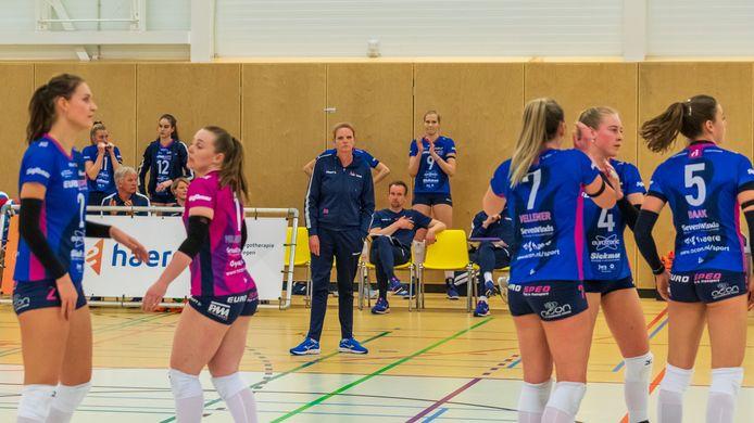 Gelatenheid bij Eurosped en coach Diane Rademaker. De ploeg uit Vroomshoop is er niet in geslaagd zich te plaatsen voor de kampioenspoule.