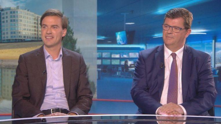 Mathias De Clercq en Bart Tommelein. Beeld VTM Nieuws