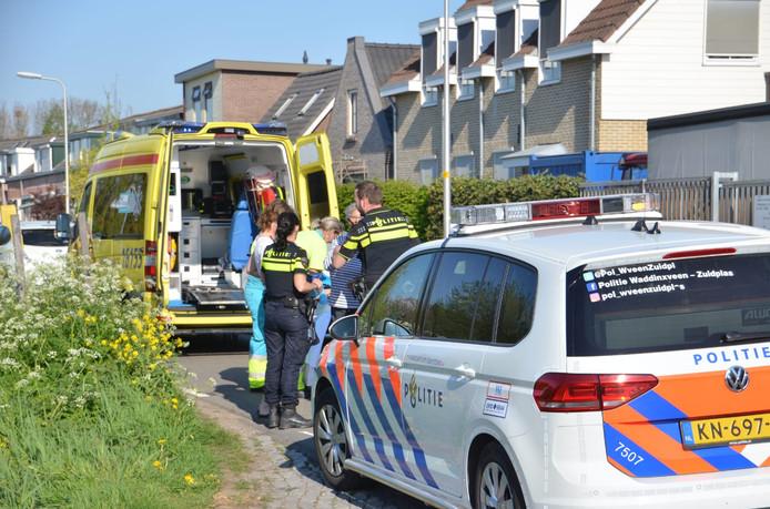 In Waddinxveen is een fietser aangereden door een automobilist.
