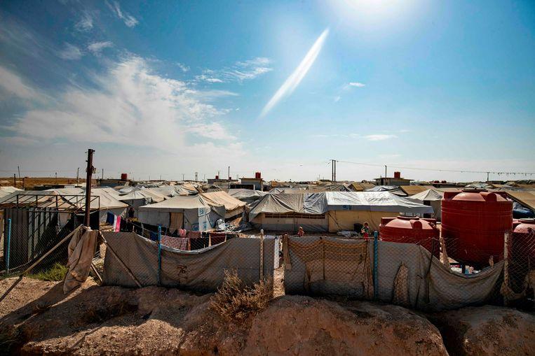 Het vluchtelingenkamp Al-Hol. Beeld AFP