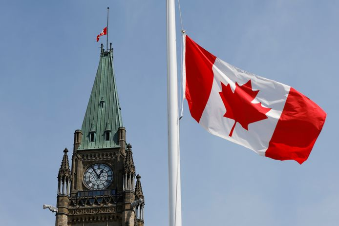 Het parlement in Ottawa, Canada.
