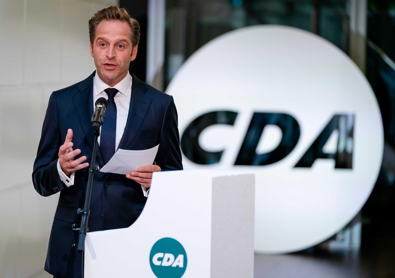 Hugo de Jonge is een van de kandidaten voor het CDA-lijsttrekkerschap. Hij heeft concurrentie van Mona Keijzer en Pieter Omtzigt. Volgende week gaan de leden stemmen.  Beeld ANP