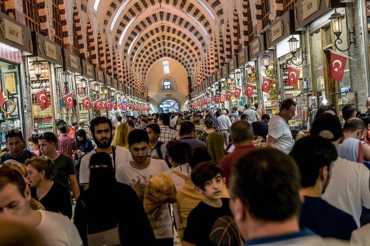 Een winkelcentrum in Istanbul.