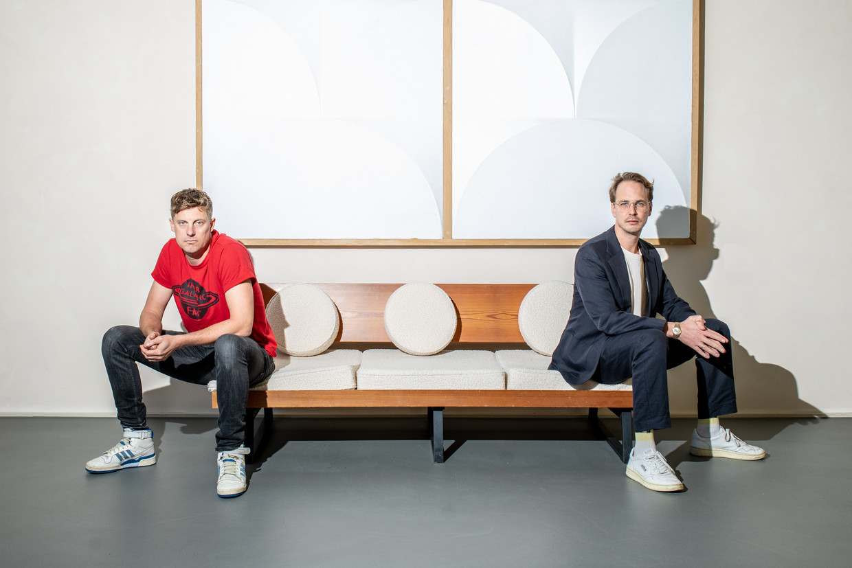 ADE-directeuren Meindert Kennis en Jan-Willem van de Ven. Beeld Nosh Neneh