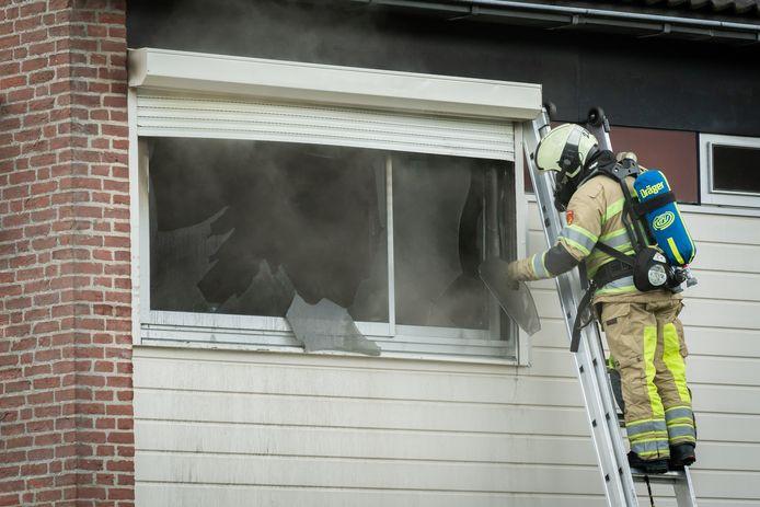 De brand is ontstaan in de slaapkamer.