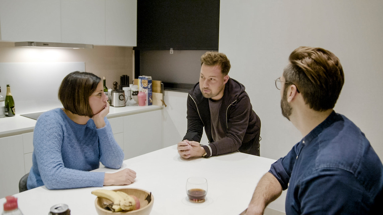Tatiana, Lothar & expert Filip Geelen Beeld VTM