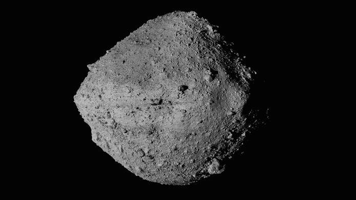 De planetoïde Bennu gezien vanuit de OSIRIS-REx.