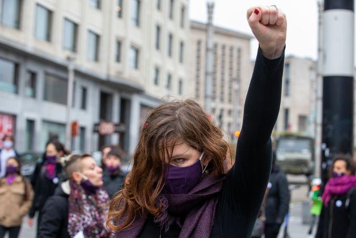 Manifestation contre les violences faites aux femmes à Bruxelles, novembre 2020.