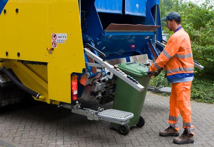 Afvalverwerking vuilniswagen
