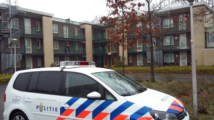 Het appartementencomplex Brinkerhoek aan de Dahliastraat in Raalte waar een bewoonster in januari 2017 werd overvallen.