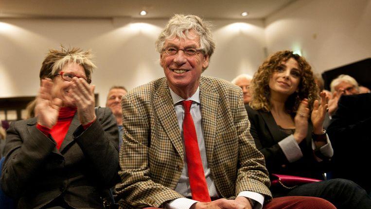 Peter van Straaten tijdens de uitreiking van de Inkspotprijs 2010 Beeld anp