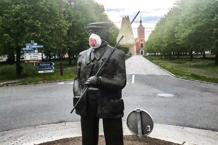 Ook de Keisdrupper in Opdorp kreeg een mondmasker aangemeten.