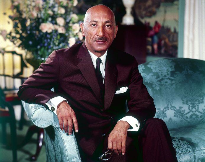Één van de laatste foto's van Mohamed Zahir Shah als koning van Afghanistan. Hij regeerde van 1933 tot het einde van de monarchie in 1973, het jaar waarin hij werd afgezet.