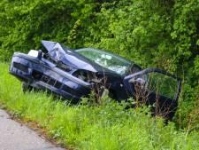 Auto belandt via boom in de greppel in Zutphen: slachtoffer naar het ziekenhuis