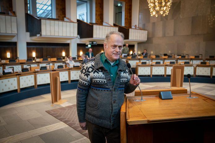 Chris Meijs in het provinciehuis.