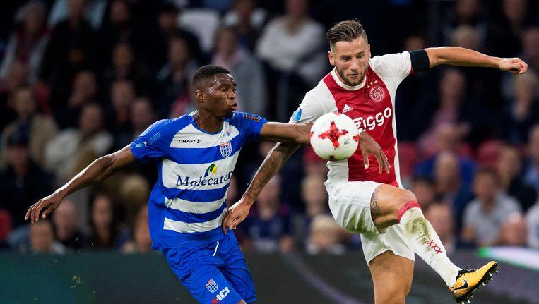 Mitchell Dijks vorig jaar tegen PEC Zwolle Beeld anp
