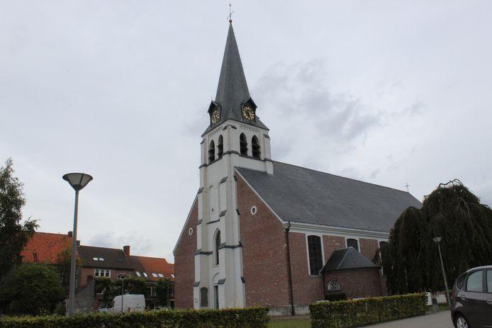 De kerk van Lembeke.