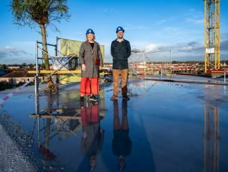 Meiboom op bouwwerf nieuw rusthuis: cocons op hoogste niveau
