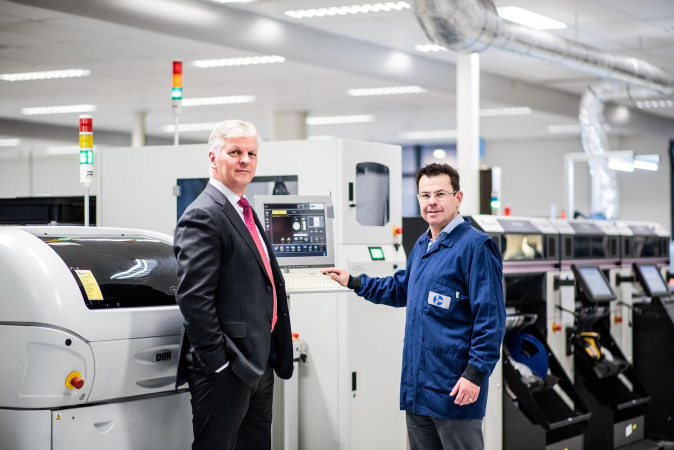 Topman Eric Stodel van Neways, gefotografeerd in Son bij werkmaatschappij Neways Industrial Systems.