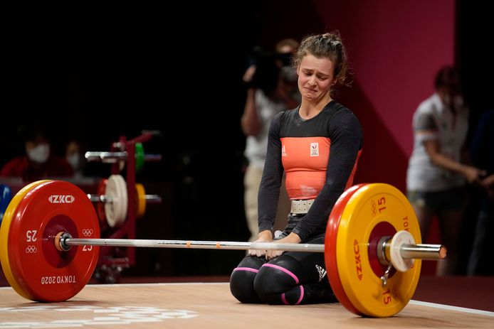 Nina Sterckx was zeer tevreden met haar vijfde plaats.