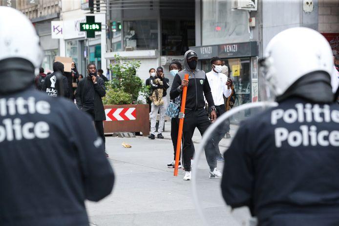 Des incidents ont éclaté dans le quartier bruxellois de Matonge, dimanche en fin d'après-midi.