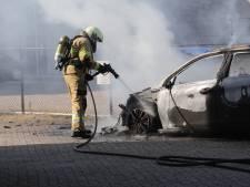 Auto brandt ondanks snel handelen van brandweer volledig uit in Oss