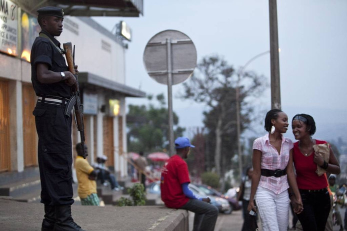 Straatbeeld van de Rwandese hoofdstad Kigali. FOTO EPA