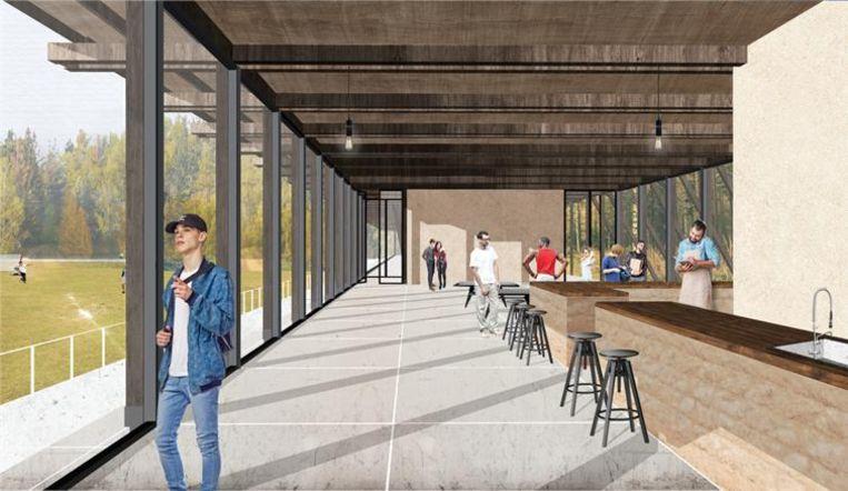 Een toekomstbeeld van het sport- en jeugdcomplex.