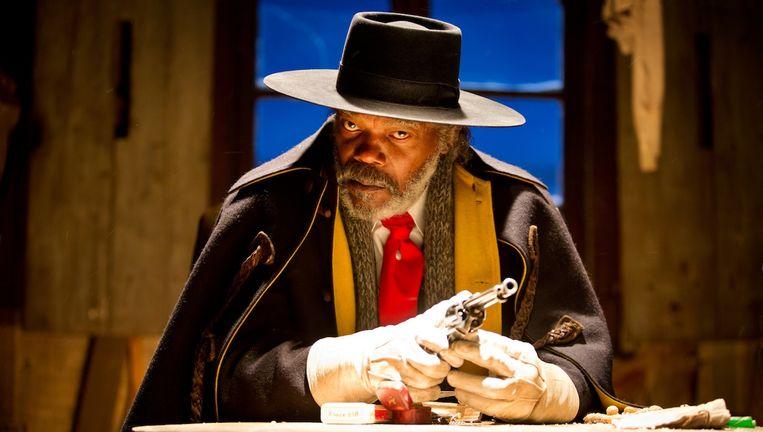 Premiejager Samuel L. Jackson ontpopt zich tot een amusante Hercule Poirot. Beeld Andrew Cooper