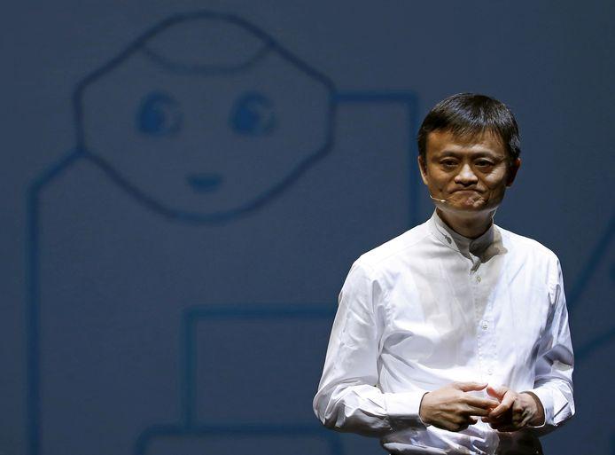Oprichter en topman van Alibaba Jack Ma op archiefbeeld.