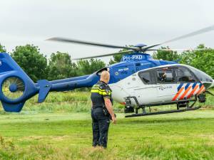 Brandstichting blijkt aanleiding voor politiehelikopter boven Houten