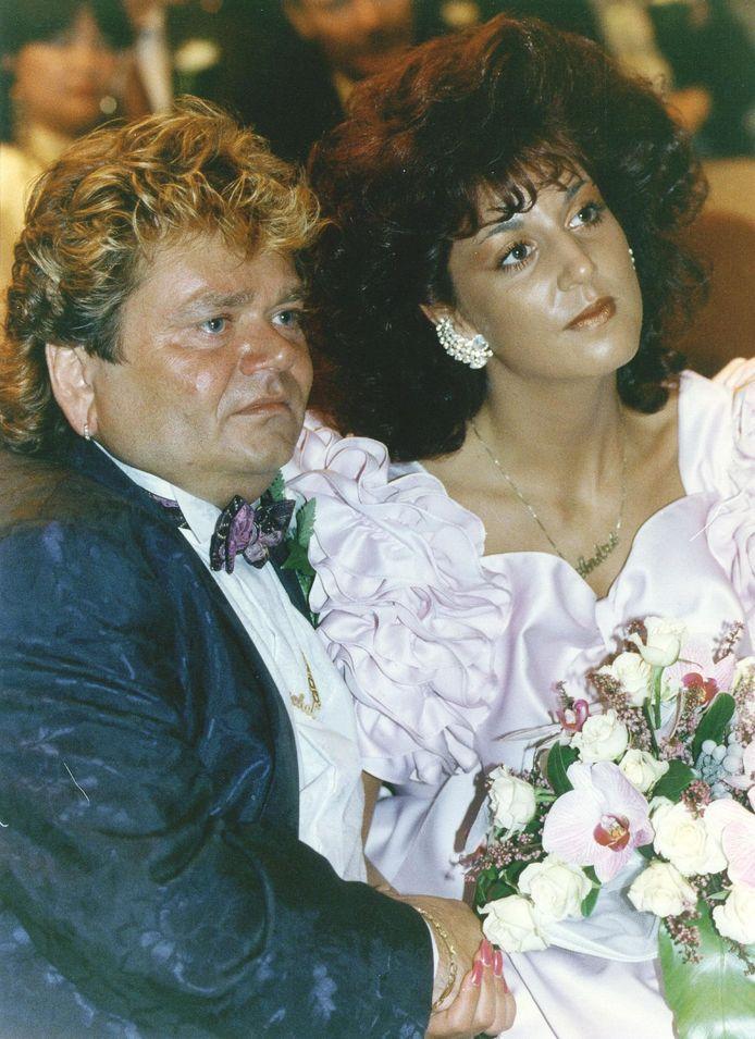 André en Rachel op hun huwelijk.