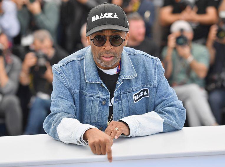 Regisseur Spike Lee op 15 mei bij een fotogelegenheid voor 'BlacKkKlansman', op de 71ste editie van het Cannes Film Festival. Beeld Getty