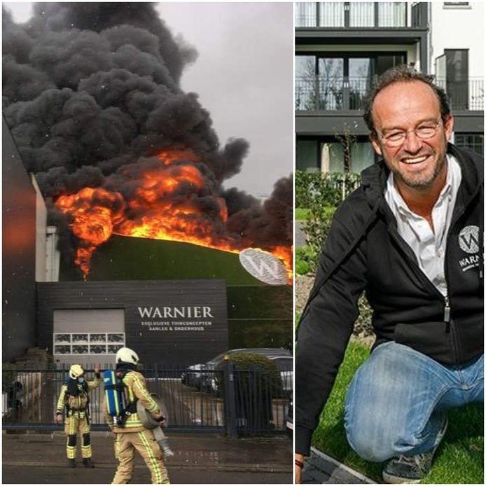 Het bedrijf van Henk Warnier is volledig verwoest
