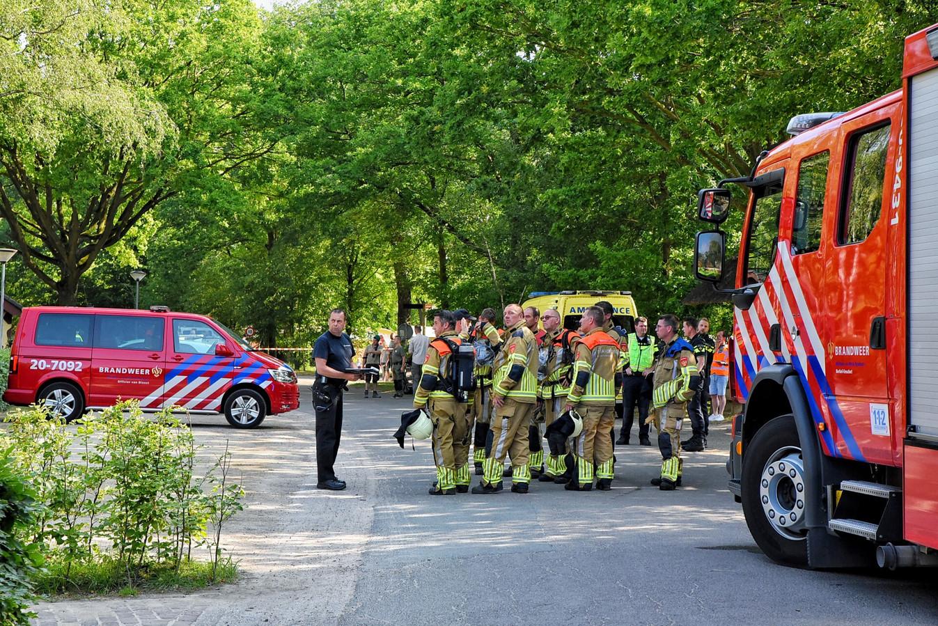 Grote brand bij pand Beekse Bergen.