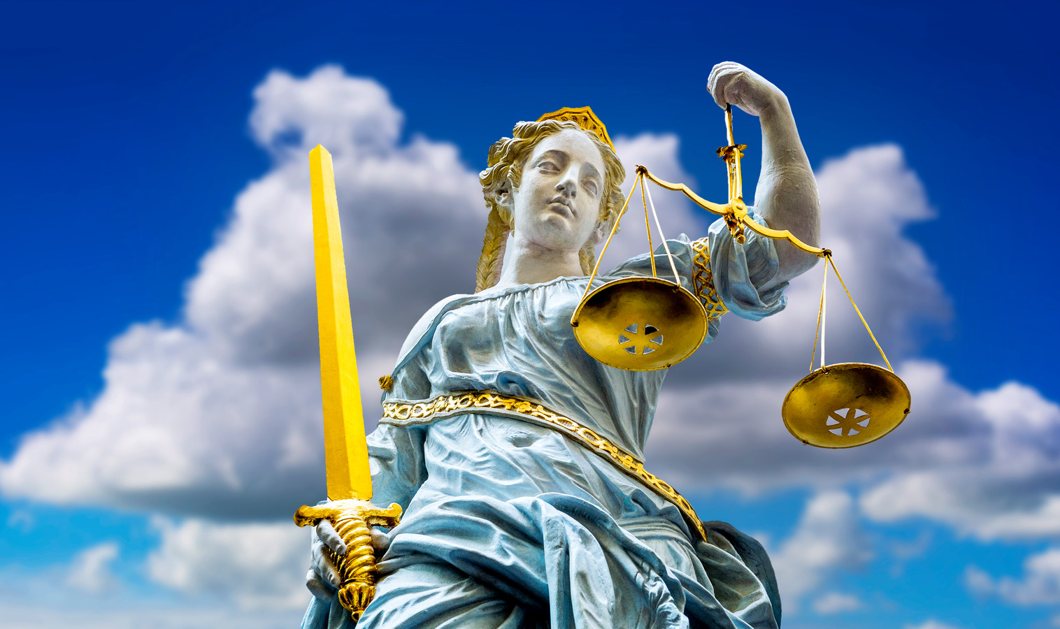 Een beeld van vrouwe Justitia