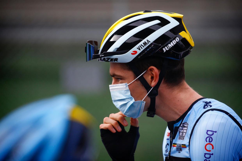 Wout Van Aert op het WK in Imola, vorig jaar. Beeld Photo News