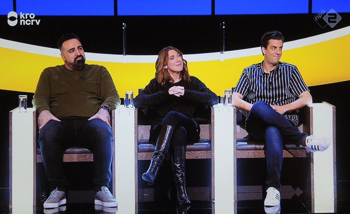 Sinan Can, Caroline Brouwer en Rob Kemps.