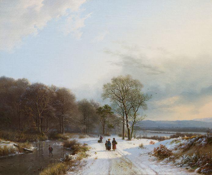 Het recent ontdekte winterlandschap van B.C. Koekkoek.