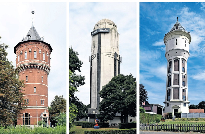 Enkele watertorens uit West-Brabant.