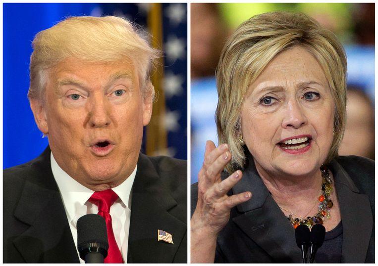Republikein Donald Trump noemde zijn Democratische rivaal Hillary Clinton vandaag onverdraagzaam en stelde dat ze zwarten alleen als stemvee ziet. Beeld AP
