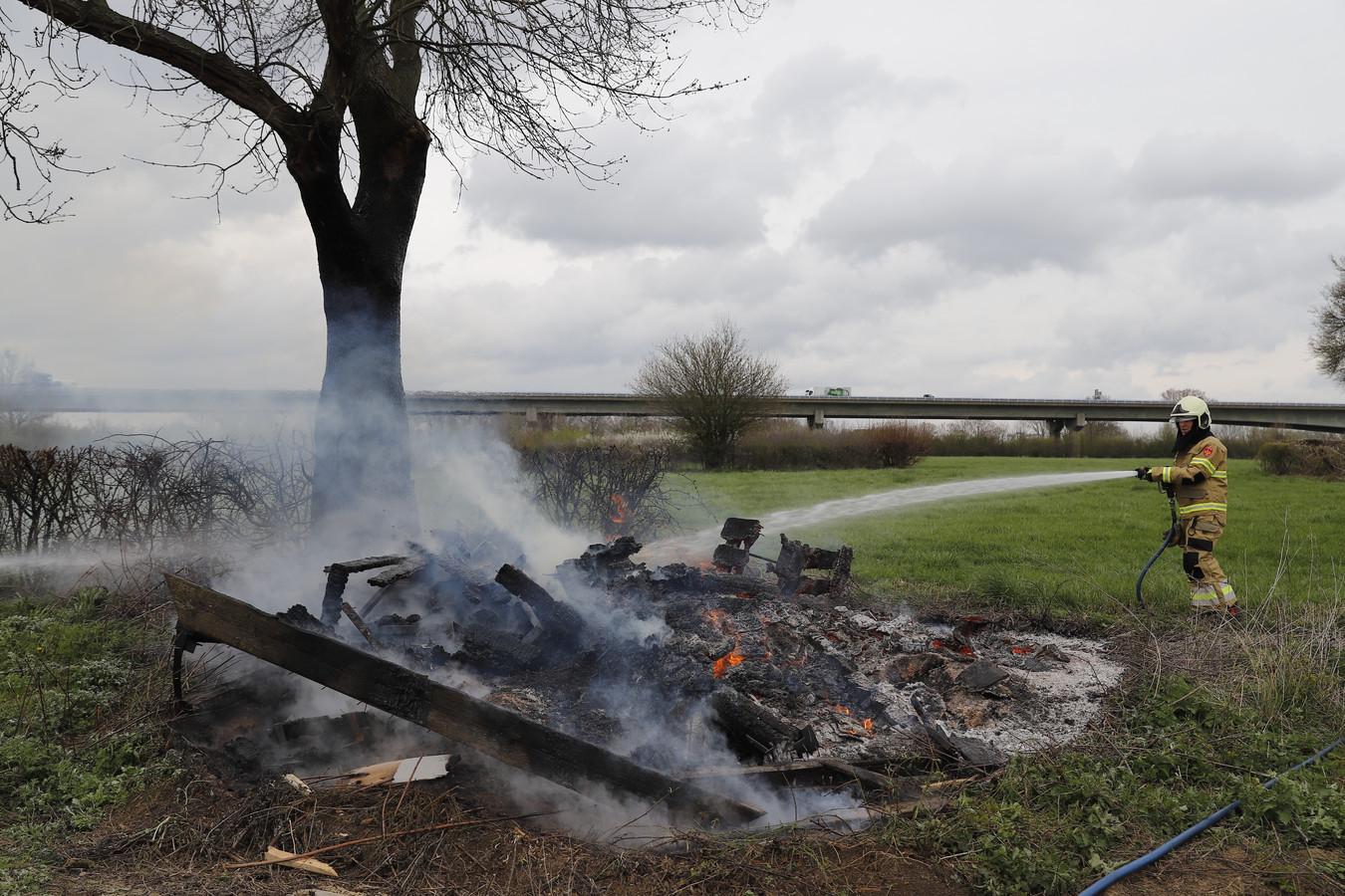 Een van de branden in Boxmeer.