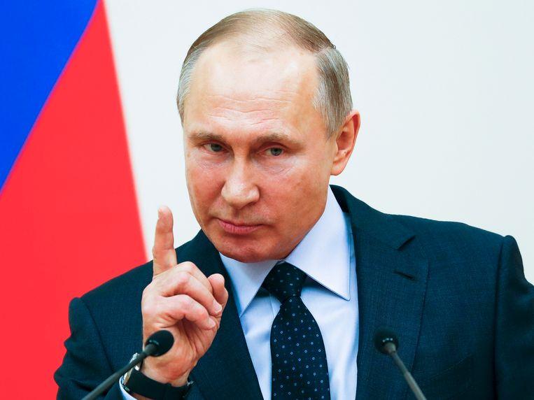 President Vladimir Poetin.  Beeld AP