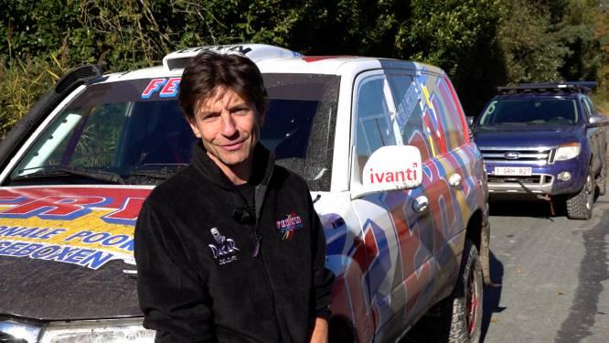 """Koen Wauters test eerste keer wagen voor Dakarrace: """"Deze auto zit niet vol met hoogtechnologische snufjes"""""""