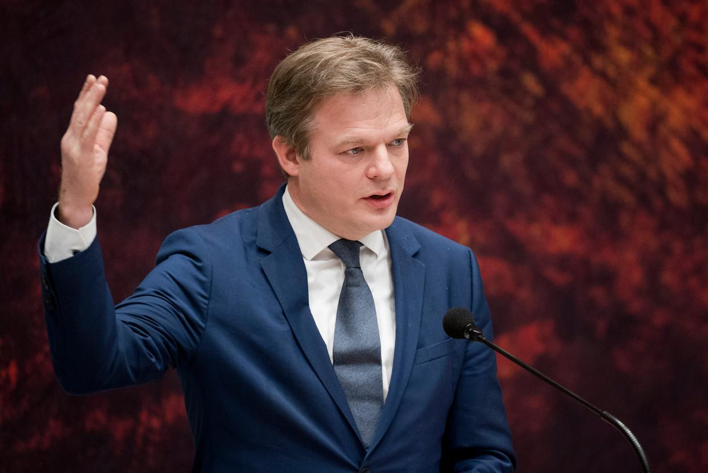 Pieter Omtzigt (CDA) begin dit jaar tijdens het debat over het aftreden van het kabinet.  Beeld Freek van den Bergh / de Volkskrant