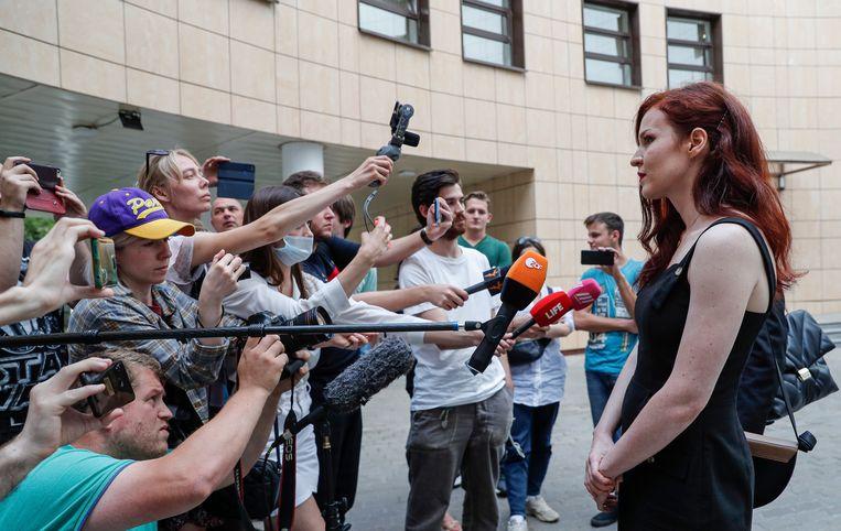 Kira Jarmysj is naar Helsinki gevlucht.  Beeld EPA